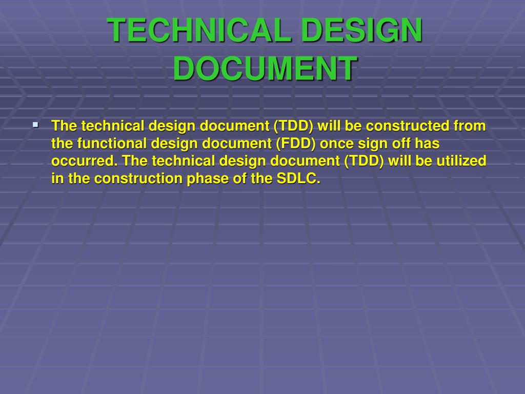 TECHNICAL DESIGN DOCUMENT