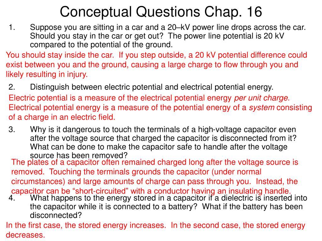 conceptual questions chap 16 l.