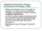 cognitive dissonance theory carlsmith festinger 1959