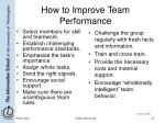 how to improve team performance