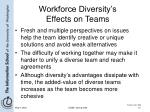 workforce diversity s effects on teams