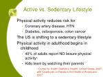active vs sedentary lifestyle