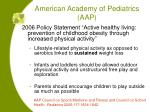 american academy of pediatrics aap