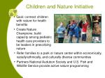 children and nature initiative2