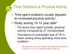 time outdoors physical activity