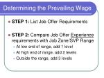 determining the prevailing wage