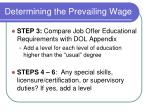 determining the prevailing wage20