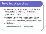 prevailing wage lingo