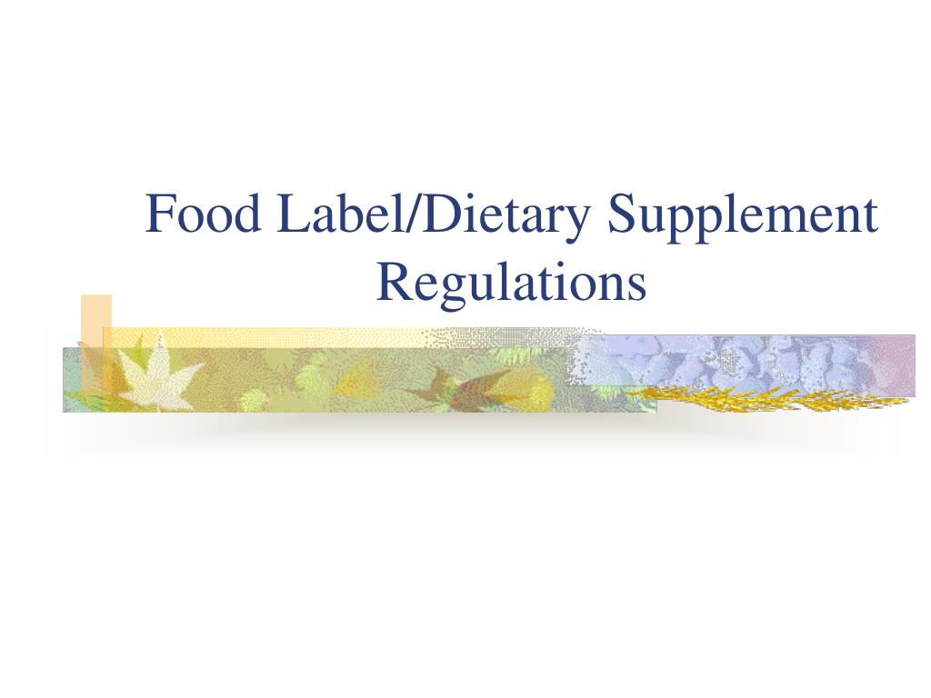food label dietary supplement regulations l.