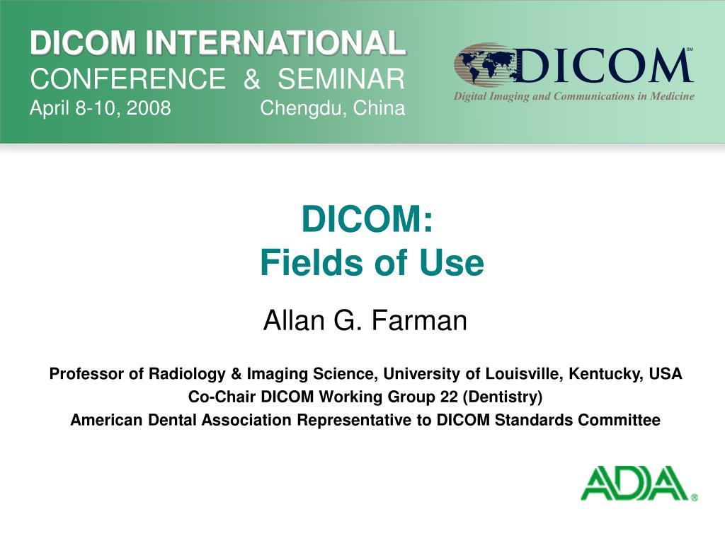 dicom fields of use l.