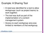 example a sharing tool