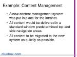 example content management