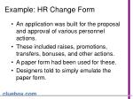 example hr change form