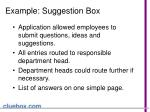 example suggestion box