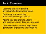 topic overview7
