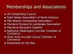 memberships and associations