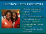 additional vice presidents
