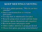keep meetings moving
