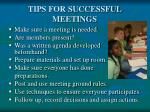 tips for successful meetings
