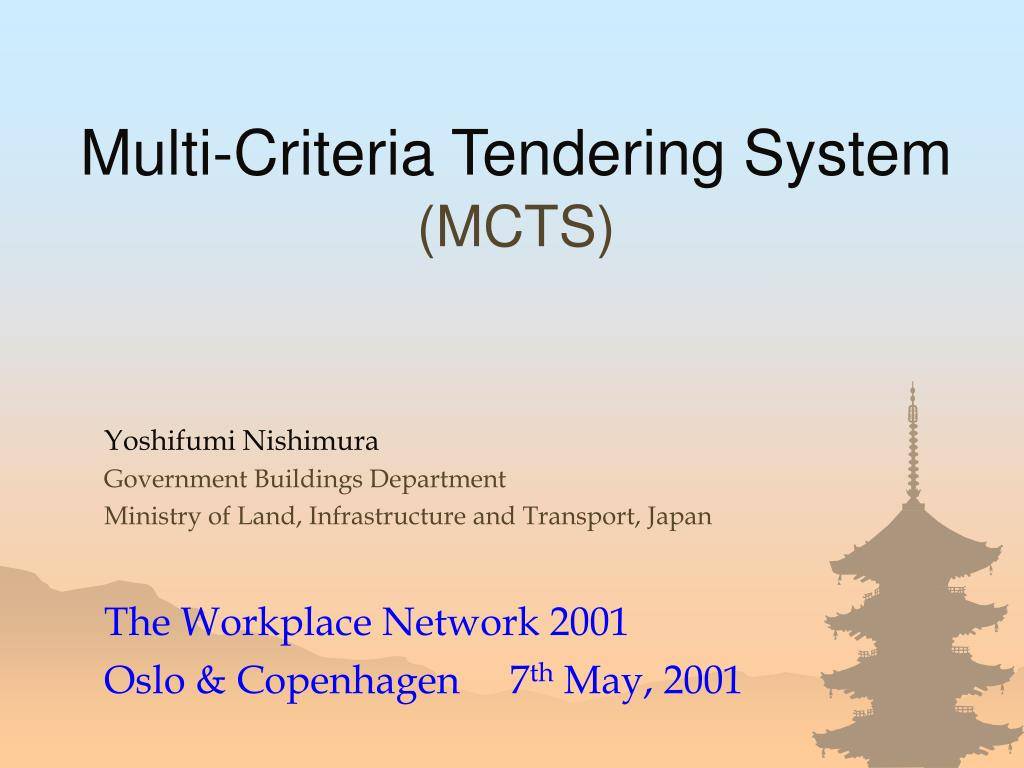 multi criteria tendering system mcts l.