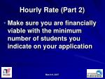 hourly rate part 2