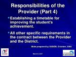 responsibilities of the provider part 4