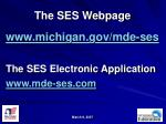 the ses webpage