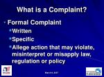 what is a complaint
