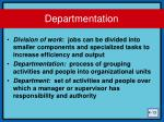 departmentation