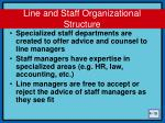 line and staff organizational structure