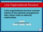 line organizational structure