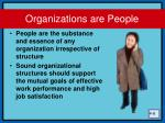 organizations are people