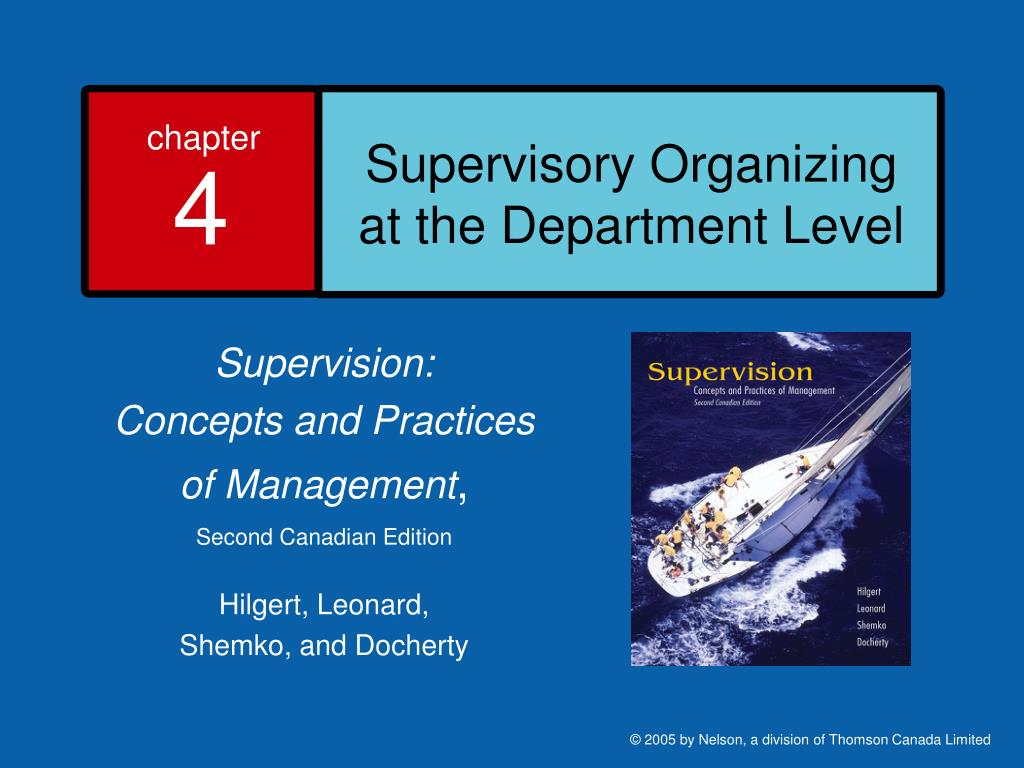 supervisory organizing at the department level l.