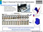 step 2 chemical formulation optimization