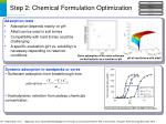 step 2 chemical formulation optimization10