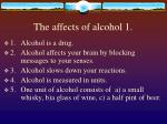the affects of alcohol 1