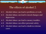 the effects of alcohol 2