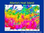 atlanta s heat island