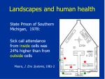 landscapes and human health