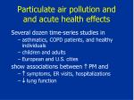 particulate air pollution and and acute health effects