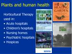 plants and human health