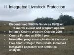 ii integrated livestock protection
