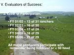 v evaluators of success16