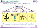 are you fit and healthy4