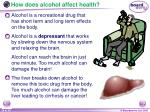 how does alcohol affect health