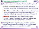 how does smoking affect health