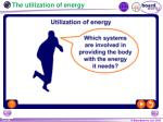 the utilization of energy