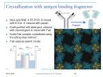 crystallization with antigen binding fragments