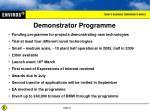 demonstrator programme