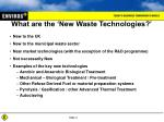what are the new waste technologies